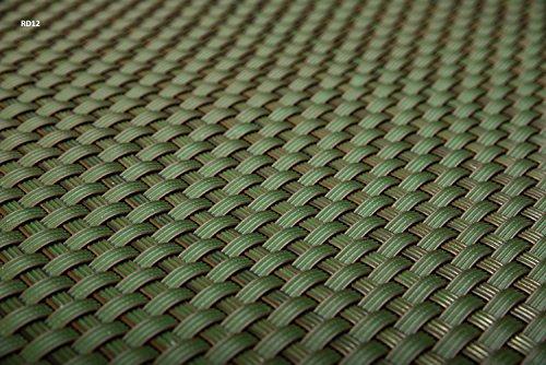 Sellon24 Polyrattan Balkonverkleidung Sichtschutz Balkonsichtschutz anthrazit braun weiß schwarz Kupfer grün Meterware Balkonbespannung 1749€  Quadratmeter H 90cm RD12 - grün
