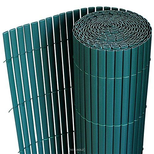 neuhaus PVC Sichtschutzmatte 90x300cm grün Sichtschutz  Windschutz  Gartenzaun  Balkon Umspannung  Zaun