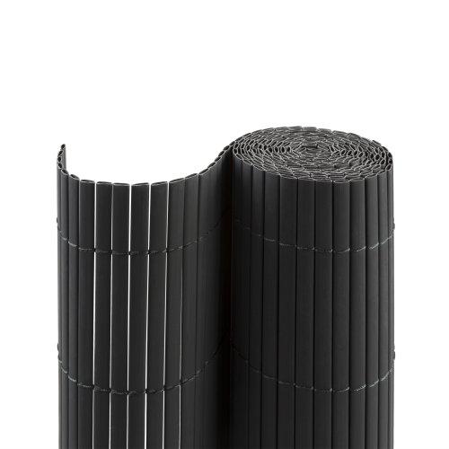 Jarolift PVC SichtschutzmatteSichtschutzzaun für Garten Balkon und Terrasse 80 x 300 cm grau