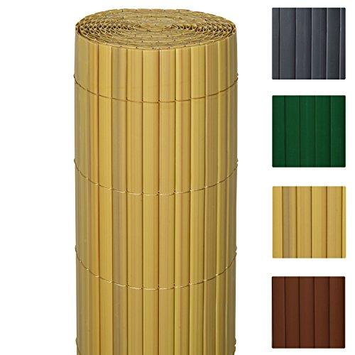 Sol Royal PVC Sichtschutz-Zaun SolVision - 90x300cm Bambus - Windschutz Kunststoff-Matten Garten Balkon Terrasse