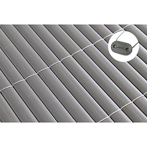 TOP MULTI PVC Sichtschutz-Matte für BalkonGarten 1m x 5m anthrazit-grau  Sichtschutz-Zaun inkl Befestigung  wetterfest  Windschutz-Matte  Blende  Blickschutz-Zaun  Balkon-Verkleidung
