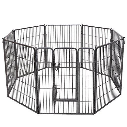 feandrea Welpenfreigehege 80 X 100 cm Hundegehege Laufstall Zaun Gitter Welpen Hasen Kaninchen PPK81G