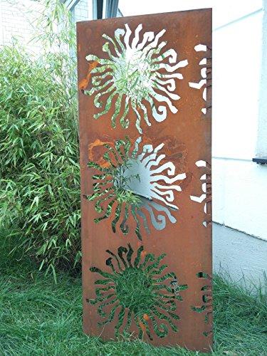 Garten Sichtschutz aus Metall Rost Gartenzaun Gartendeko edelrost Sichtschutzwand PF0003 150502cm
