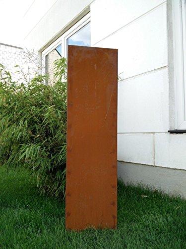 Garten Sichtschutz aus Metall Rost Gartenzaun Gartendeko edelrost Sichtschutzwand PF0012 125502CM