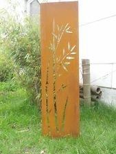 Zen Man EdelrostGartendekoMetallRostSichtschutz Wand Sichtschutzwand Gartenzubehör