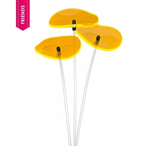 Cazador del Sol   Lucille  3 Stück geschwungene Sonnenfänger Gelb 40 cm Hoch