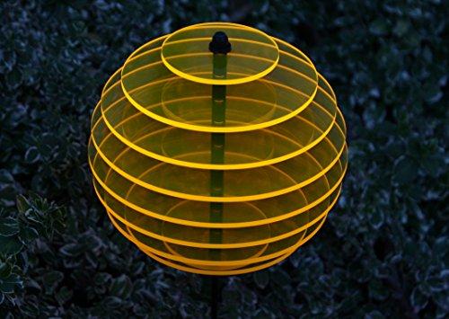 sabro-design Sonnenfänger Kugel Ø15cm Sonnengelb Leuchtscheibe Dekoration