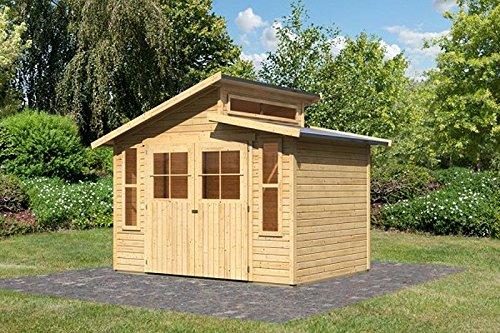 Karibu Gartenhaus GRAUBURG 6 natur Gerätehaus 302x217cm 19mm