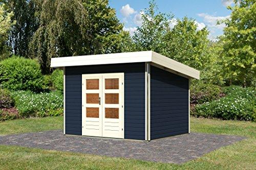 Unbekannt Karibu Gartenhaus Moosburg 2 opalgrau 40 mm Chrome Line