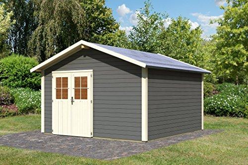 Unbekannt Karibu Gartenhaus Oldeborg 2 terragrau 28 mm