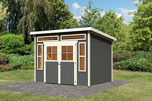 Unbekannt Karibu Gartenhaus Tinkenau 6 terragrau 19 mm