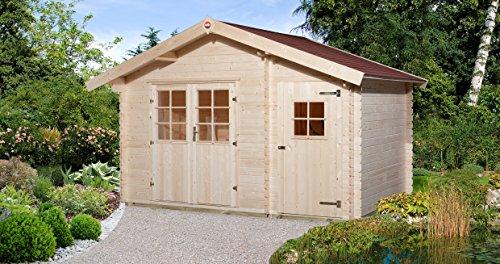 weka Gartenhaus 253 Gr1 28 mm DT Nebenraum ET V50 mit 2 Raum