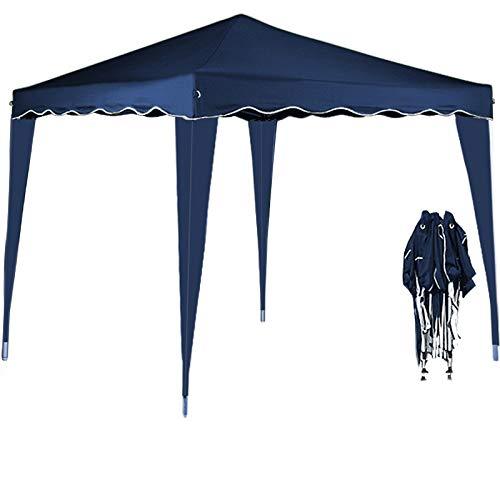 Deuba Pavillon Capri 3x3m  wasserdicht  Pop-Up  inkl Tasche  UV-Schutz 50  Faltpavillon Gartenzelt Partyzelt  blau  Farbauswahl