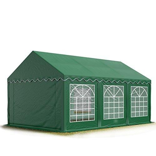 TOOLPORT Party-Zelt Festzelt 3x6 m Garten-Pavillon -Zelt 500gm² PVC Plane in dunkelgrün Wasserdicht