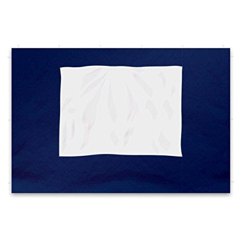 Nexos 2 Stück Seitenteile Seitenwände Ersatzwände mit Fenster für PROFI Falt-Pavillon Festzelt – hochwertig – 295 x 215 cmPE 180 gm² – blau