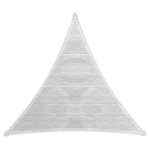 Windhager Sonnensegel Sonnenschutz Sunsail ADRIA Dreieck 36 x 36 x 36 m gleichschenkelig UV-Schutz witterungsbeständig und atmungsaktiv WEISS 10975