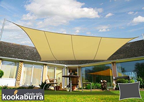 Kookaburra Wasserfest Sonnensegel 50m x 40m Rechteck Sandfarben