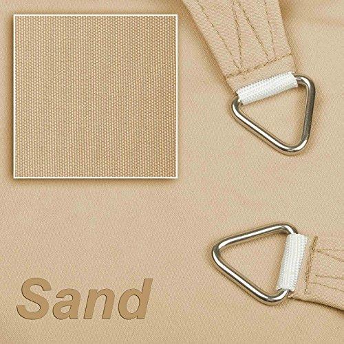 hanSe Marken Sonnensegel 100 Polyester- wasserabweisend Rechteck 4x5 m Sand