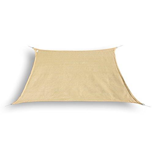 hanSe Marken Sonnensegel Sonnenschutz Segel Trapez 45 x 4m Farbe Sand