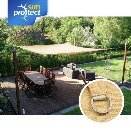sunprotect SPT83216 professional Sonnensegel 35 x 45 m Rechteck beige 1 Stück