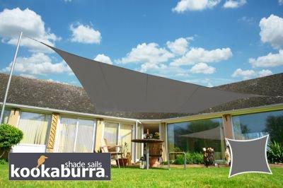 Kookaburra Wasserfest Sonnensegel 30m x 20m Rechteck Dunkelgrau