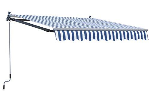 Grasekamp Markise 200x150cm BlauWeiß Sonnensegel Sonnenschutz Jalousien
