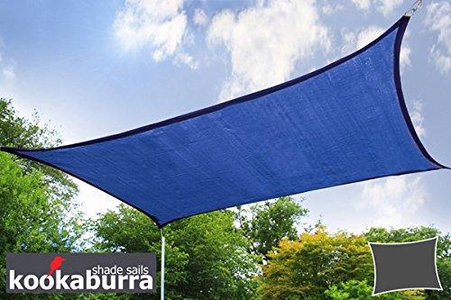 Kookaburra 40m x 30m Rechteck Blau Atmungsaktives Party-Sonnensegel Strickgewebe 185g