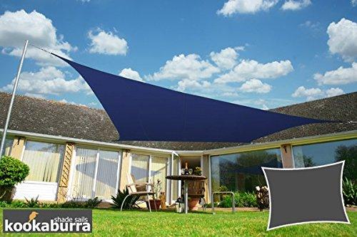 Kookaburra Sonnensegel Wasserabweisend 40m x 30m Rechteck Blau