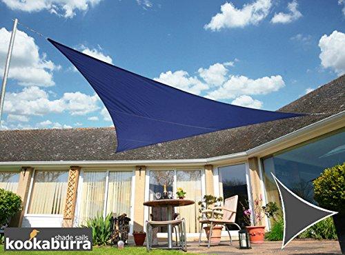 Kookaburra Wasserfest Sonnensegel 50m Dreieck Blau