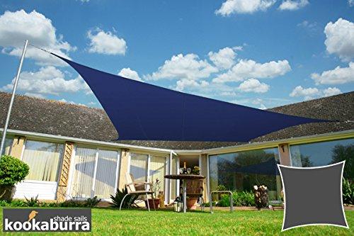 Kookaburra Wasserfest Sonnensegel 54m Quadrat Blau
