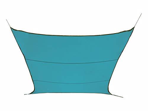 Perel GSS4320BL Sonnensegel-Rechteckig Blau 200 x 300 x 02 cm
