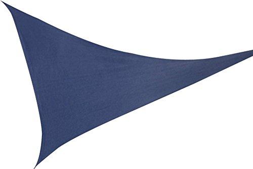 Windhager Sonnensegel blau Dreieck 36 x 36 m Sonnendach Markise Sonn