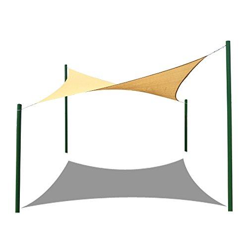 Frilivin Sonnensegel Rechteckig Sonnenschutz Garten UV Schutz Premium Schatten Tuch Markisen Beige 1x2m