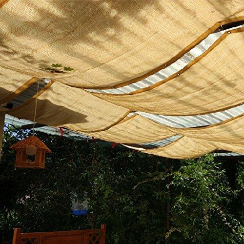 Frilivin Sonnensegel Rechteckig Sonnenschutz Garten UV Schutz Premium Schatten Tuch Markisen Beige 1x3m