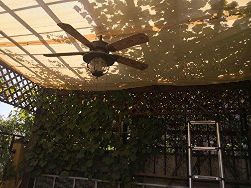 Frilivin Sonnensegel Rechteckig Sonnenschutz Garten UV Schutz Premium Schatten Tuch Markisen Beige 2x2m