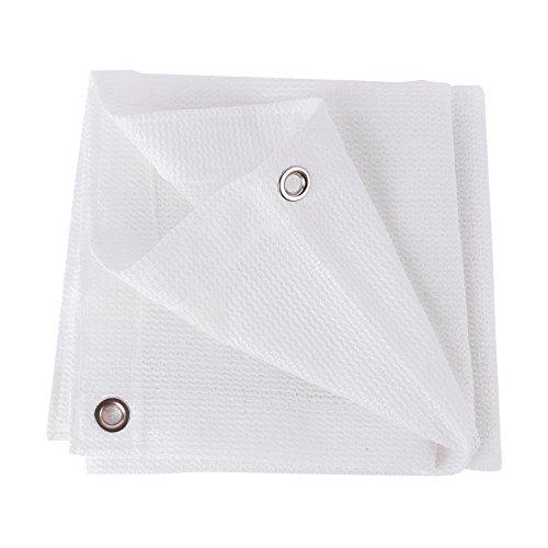 Frilivin Sonnensegel Rechteckig Sonnenschutz Garten UV Schutz Premium Schatten Tuch Markisen Weiß 15x2m