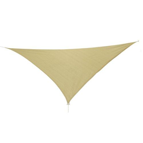 10T Emerson Dreieck Tarp 5m je Seite Sonnensegel wetterbeständig atmungsaktiv 90 UV Schutz Sonnenschirm  Markise inkl Abspannseile für Camping Garten Terasse Balkon