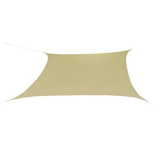 10T Patterson Tarp quadratisch 36x36 m Sonnensegel wetterbeständig atmungsaktiv 90 UV Schutz Sonnenschirm  Markise inkl Abspannseile für Camping Garten Terasse Balkon