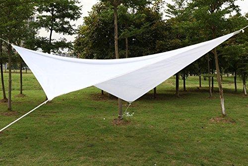 Yaheetech Sonnensegel Garten Sonnenschutz Wasserdicht UV Schutz Quadrat 4 x 4m Weiß