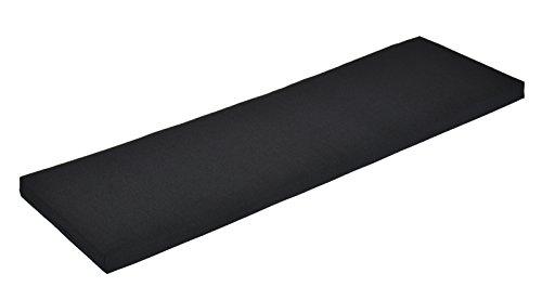 Naturholzmöbel Seidel Bankauflage Bankkissen Bankpolster Sitzkissen 80x38cm Bezug mit Reissverschluss Stoff Panama waschbar bei 30° schwarz