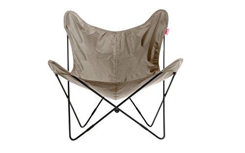 Roomox BFLY-NYBL-Khaki Klappbarer Polyester Sessel Zusammensetzbar Stoff schwarz 81 x 83 x 89 cm