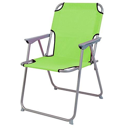 Praktisch und Gut Campingstuhl Faltstuhl Stoff Lime Grün Camping-Klappstuhl Anglerstuhl Regiestuhl Angelstuhl Metall
