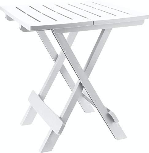 Spetebo Klapptisch Adige - Kleiner Garten- oder Campingtisch - ideal als Beistelltisch Weiß