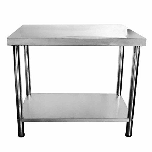 V2A Edelstahl Tisch Gastronomie Beistelltisch Grilltisch 100 x 50 cm 85 cm hoch