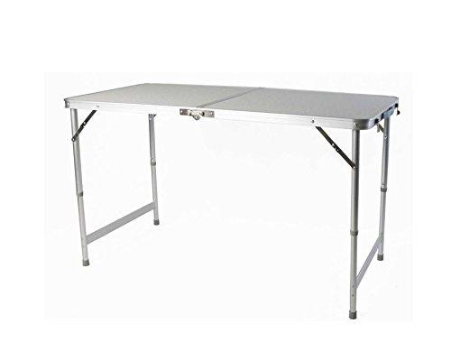 Klapptisch Campingtisch Ausklappbar mit MDF-Tischplatte 120 x 60 x 54 cm