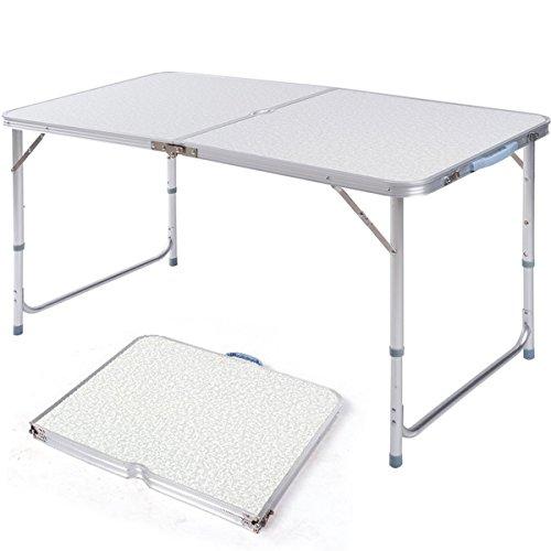 Pre&Mium Campingtisch Klapptisch Klappbar Wohnwagen Tisch Gartentisch Höhenverstellbar 120x60x70cm