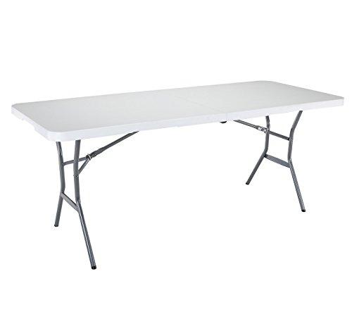 Lifetime Campingtisch Gartentisch Klapptisch Falttisch Faltbarer Tisch Campingmöbel Markttisch Flohmarkttisch Koffertisch 182x76x74 cm