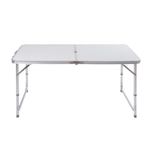 Topgoods Aluminium Campingtisch Aluminium Klapptisch Falttisch Gartentisch Esstisch klappbar höhenverstellbar 120x60 x55cm70cm