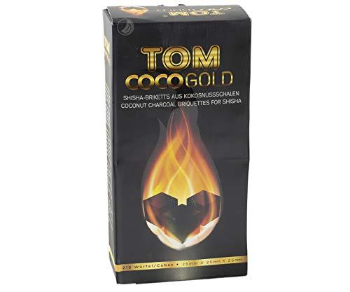 TOM Cococha Gold 3kg Shisha Kohle aus Kokosnussschalen Wasserpfeife  Hookah