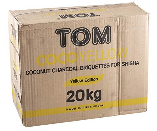 TOM Cococha Kokoskohle Gelb 20kg für Shisha und BBQ